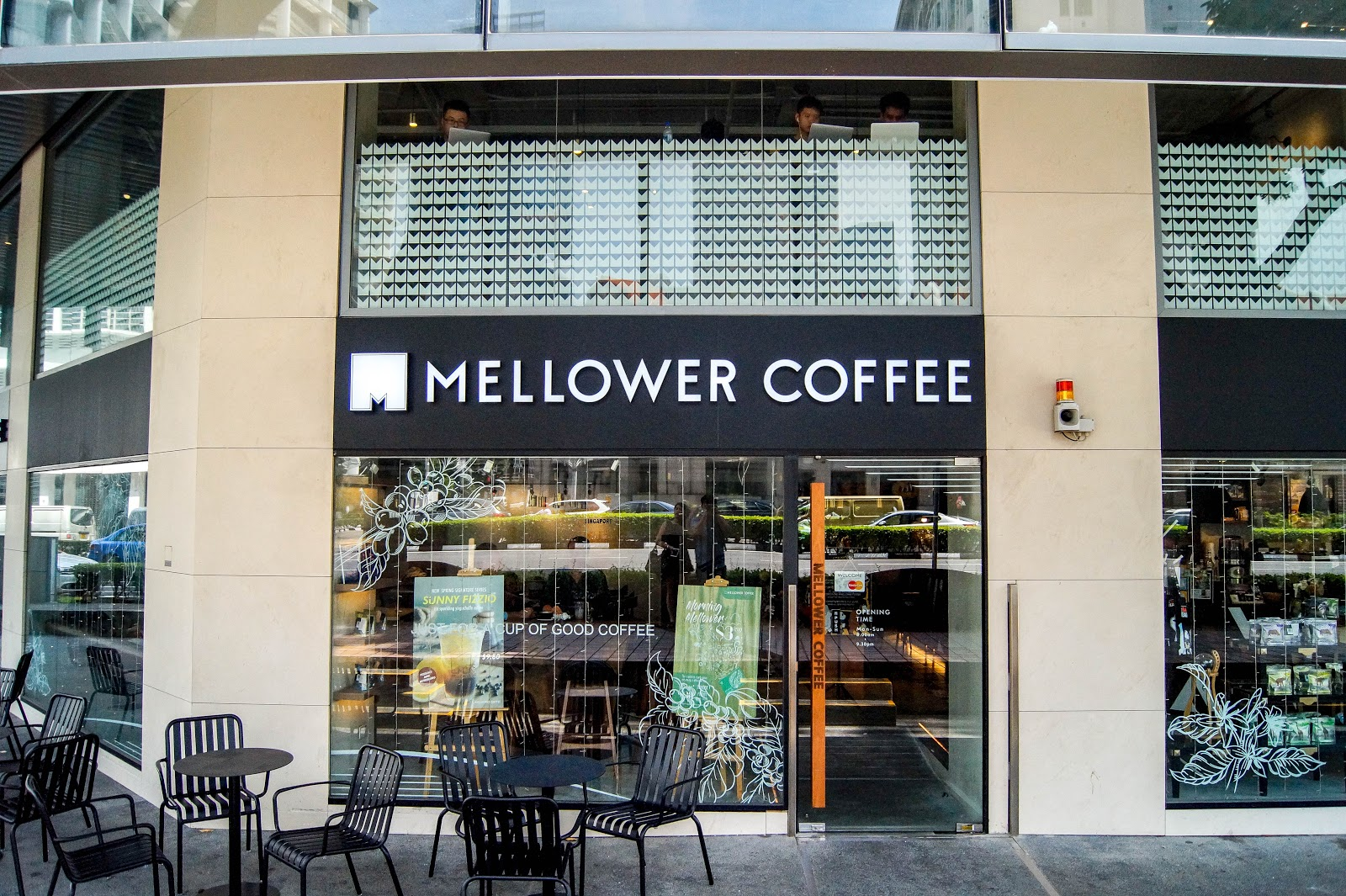 Shopfront of a Mellower Coffee branch