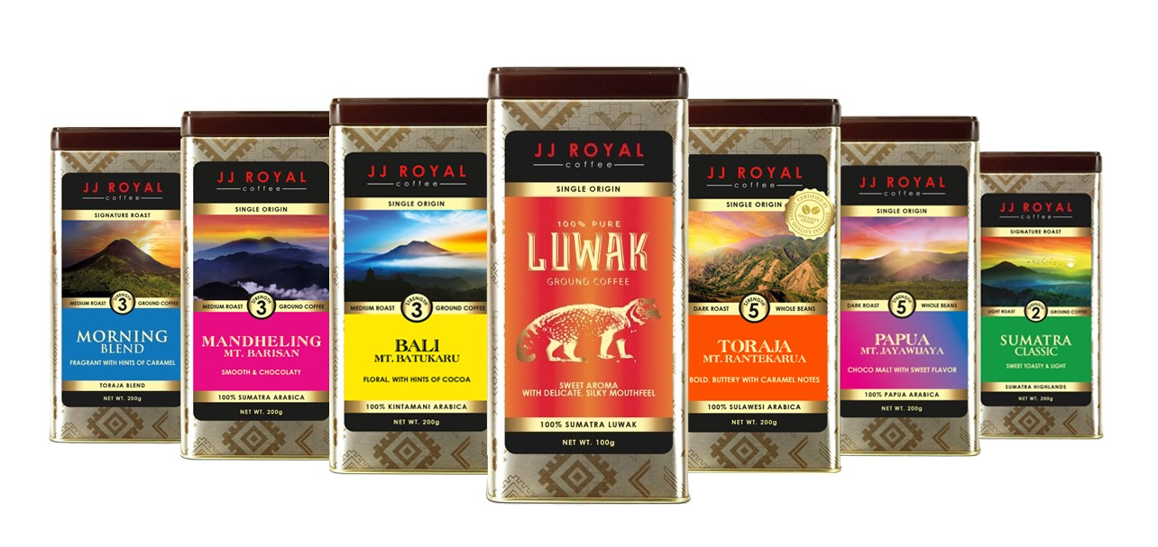 a selection of coffee from JJ Royal