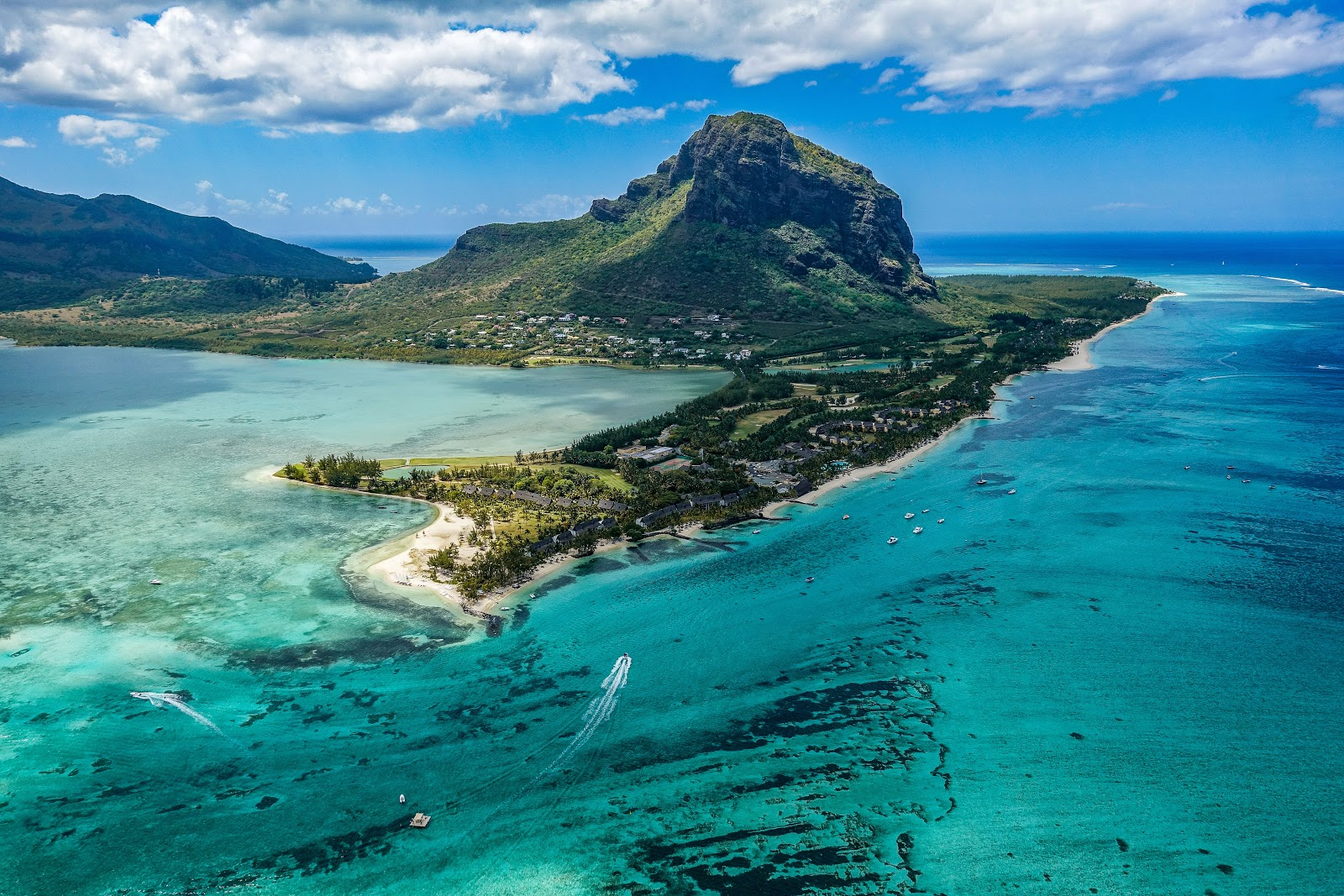 a photo of one of Mauritius's islands