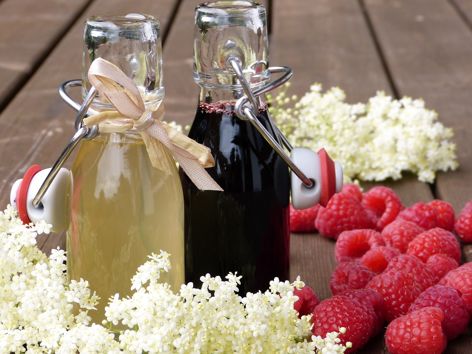 jars of syrup made from fruits