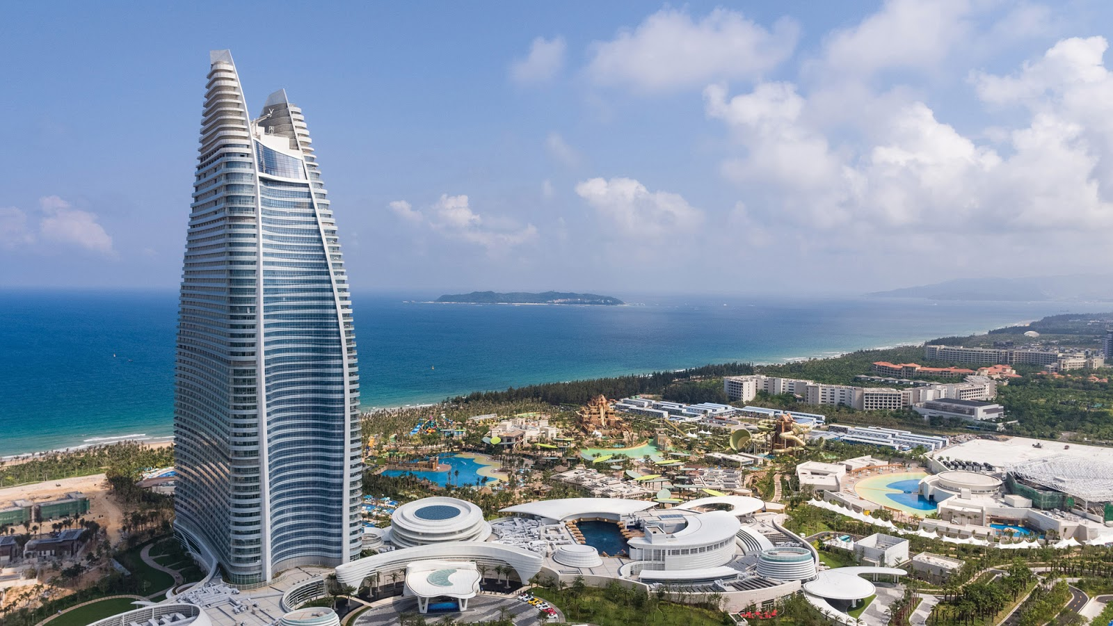 A panoramic view of the Atlantis Sanya in China