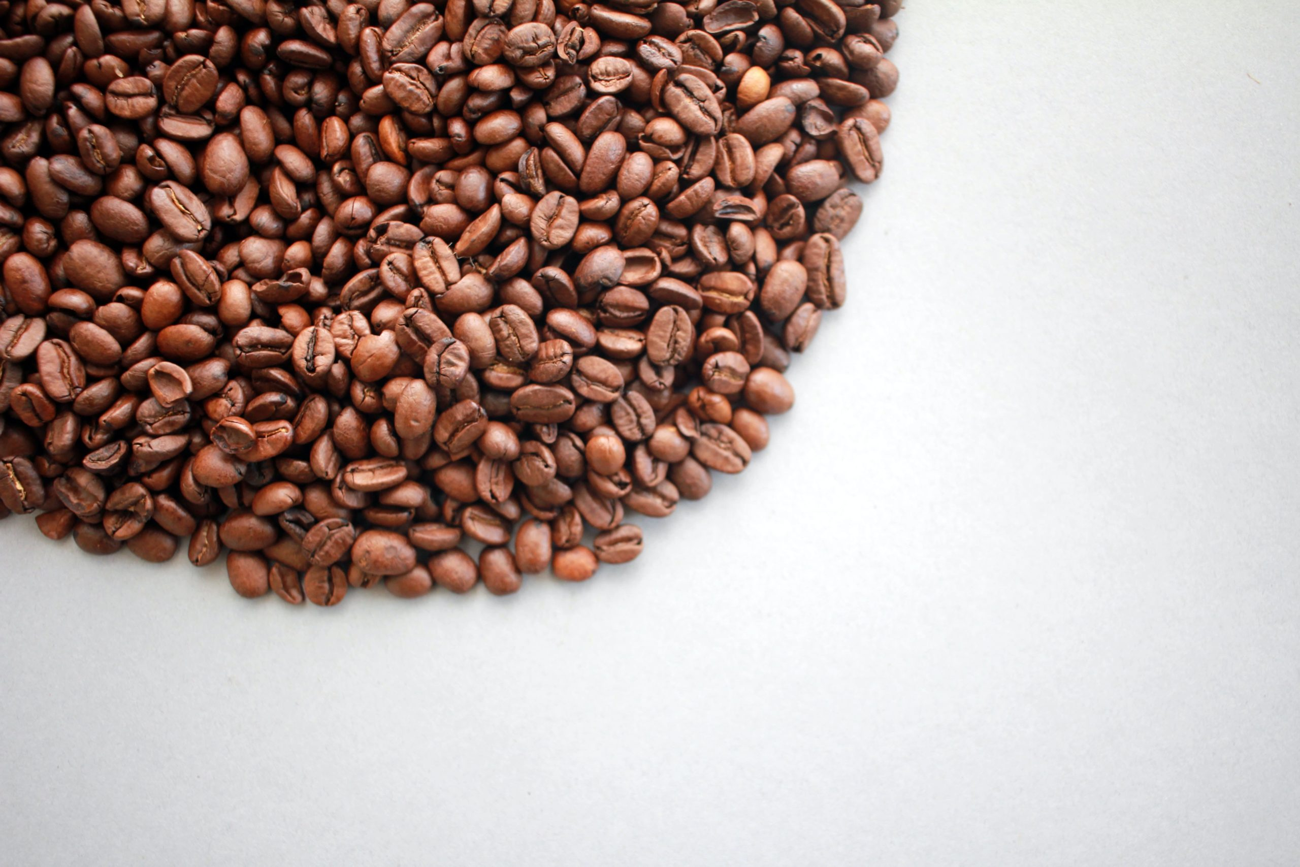 coffee beans placed on a table