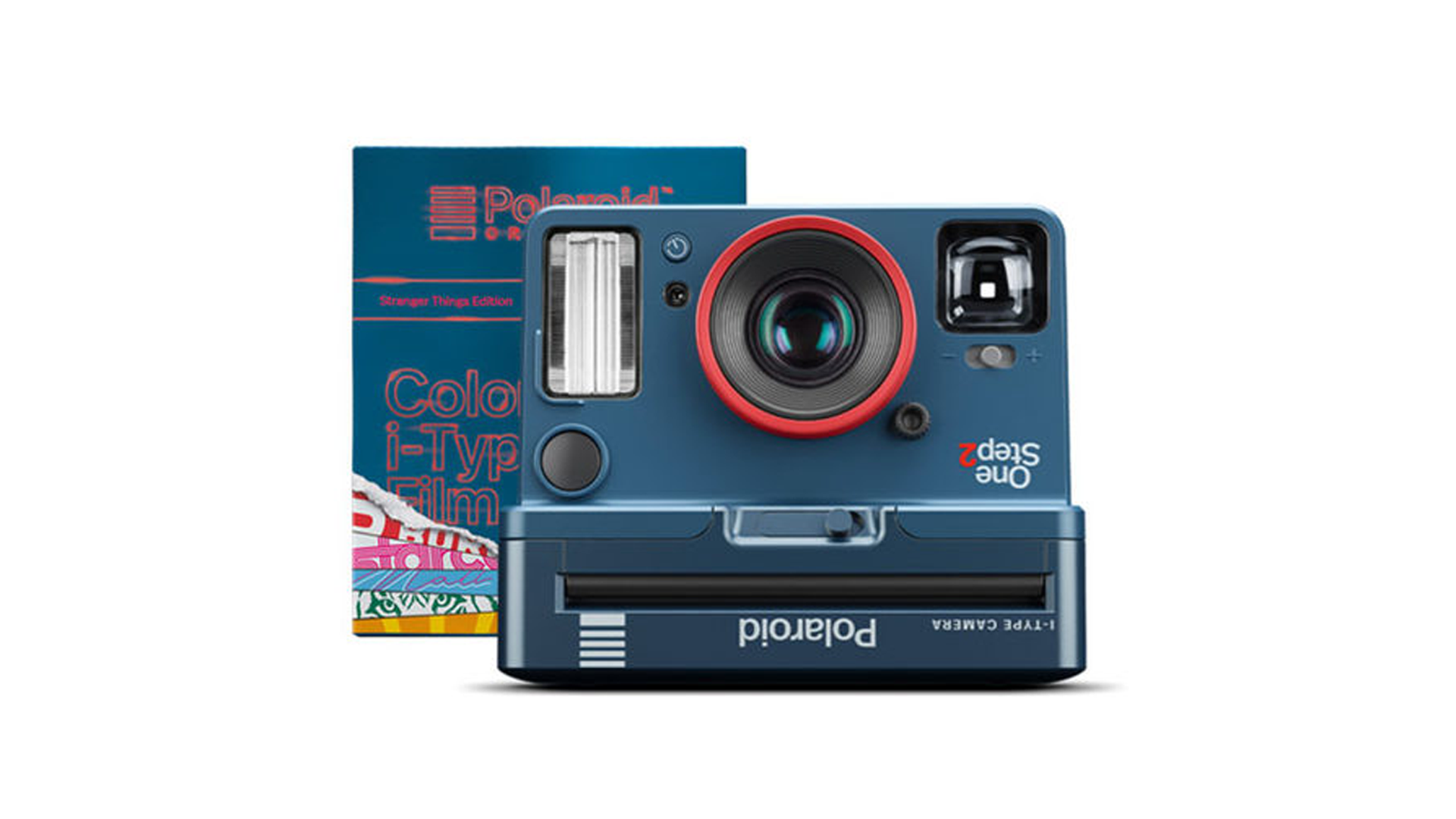 A Polaroid OneStep 2 Camera that is design-inspired by Stranger Things