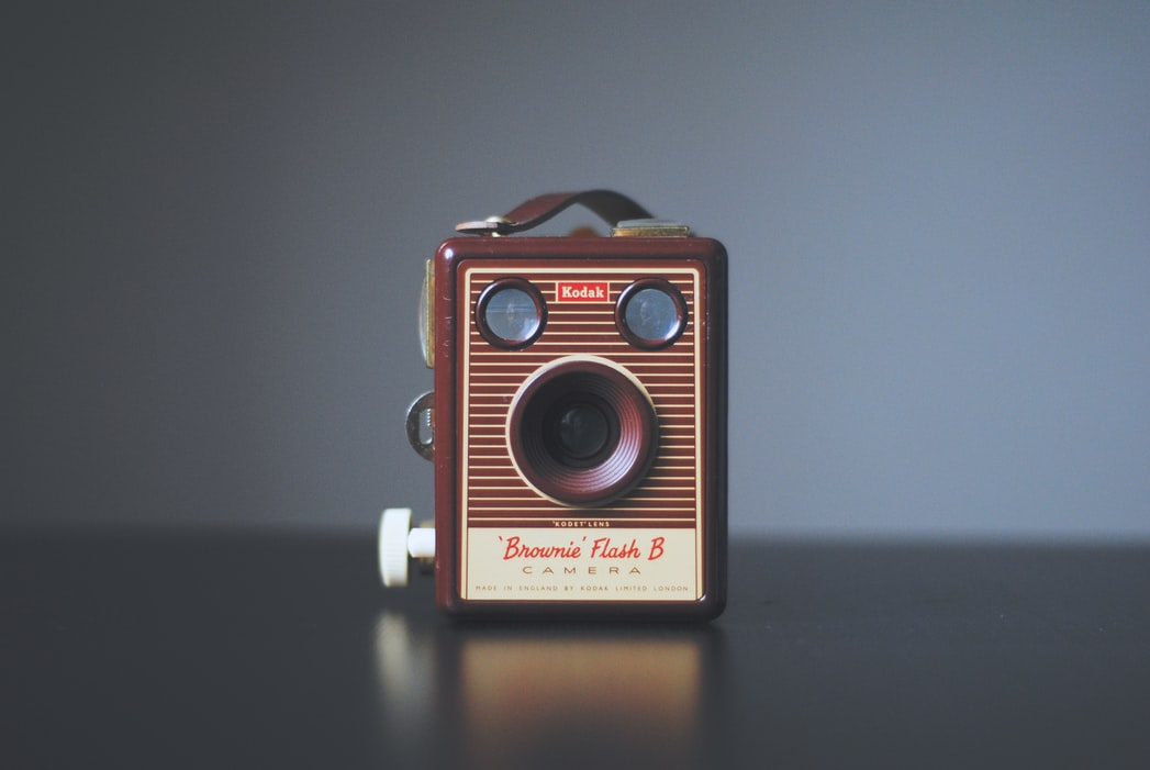An antique-looking camera
