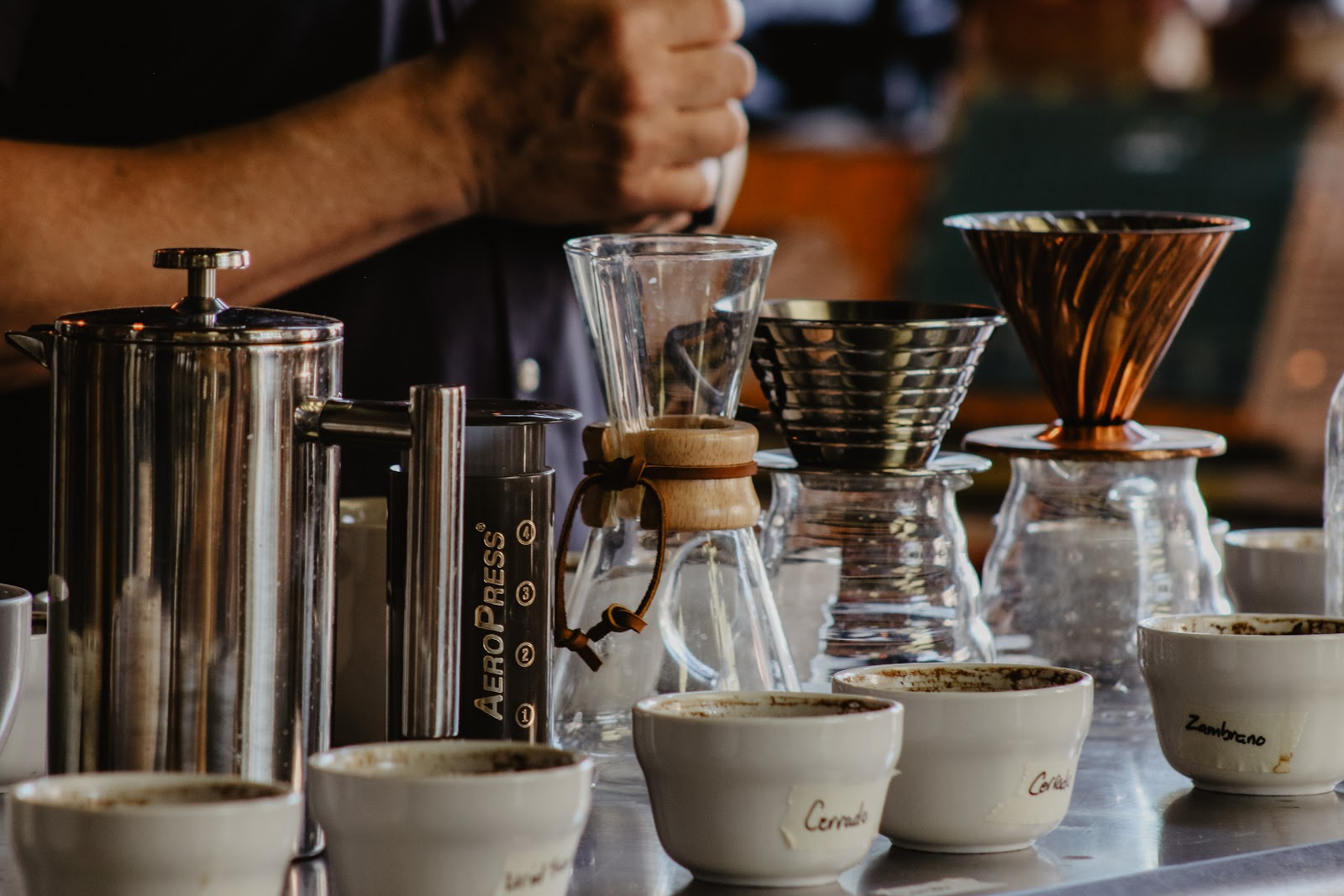 different types of coffee makers and tools