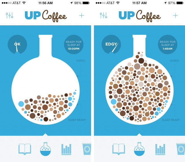 The UP Coffee mobile app