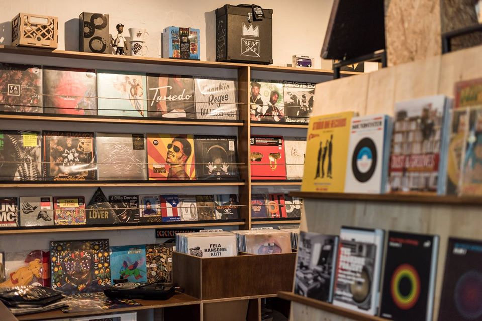A music record store