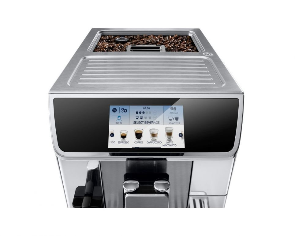 the front of a bean to cup coffee machine