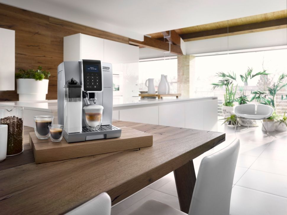 coffee machine in the living room