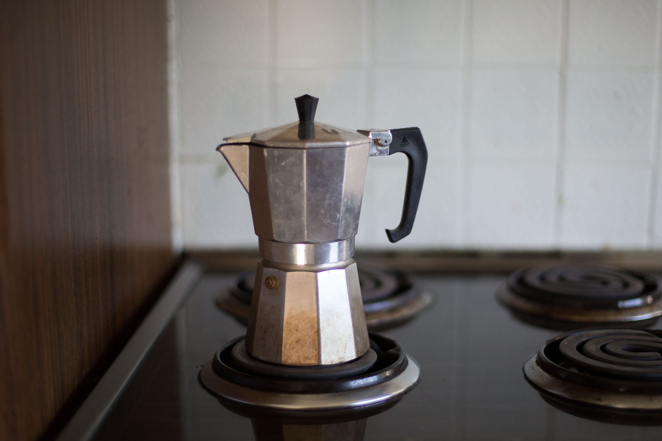 a Moka Pot on a stove