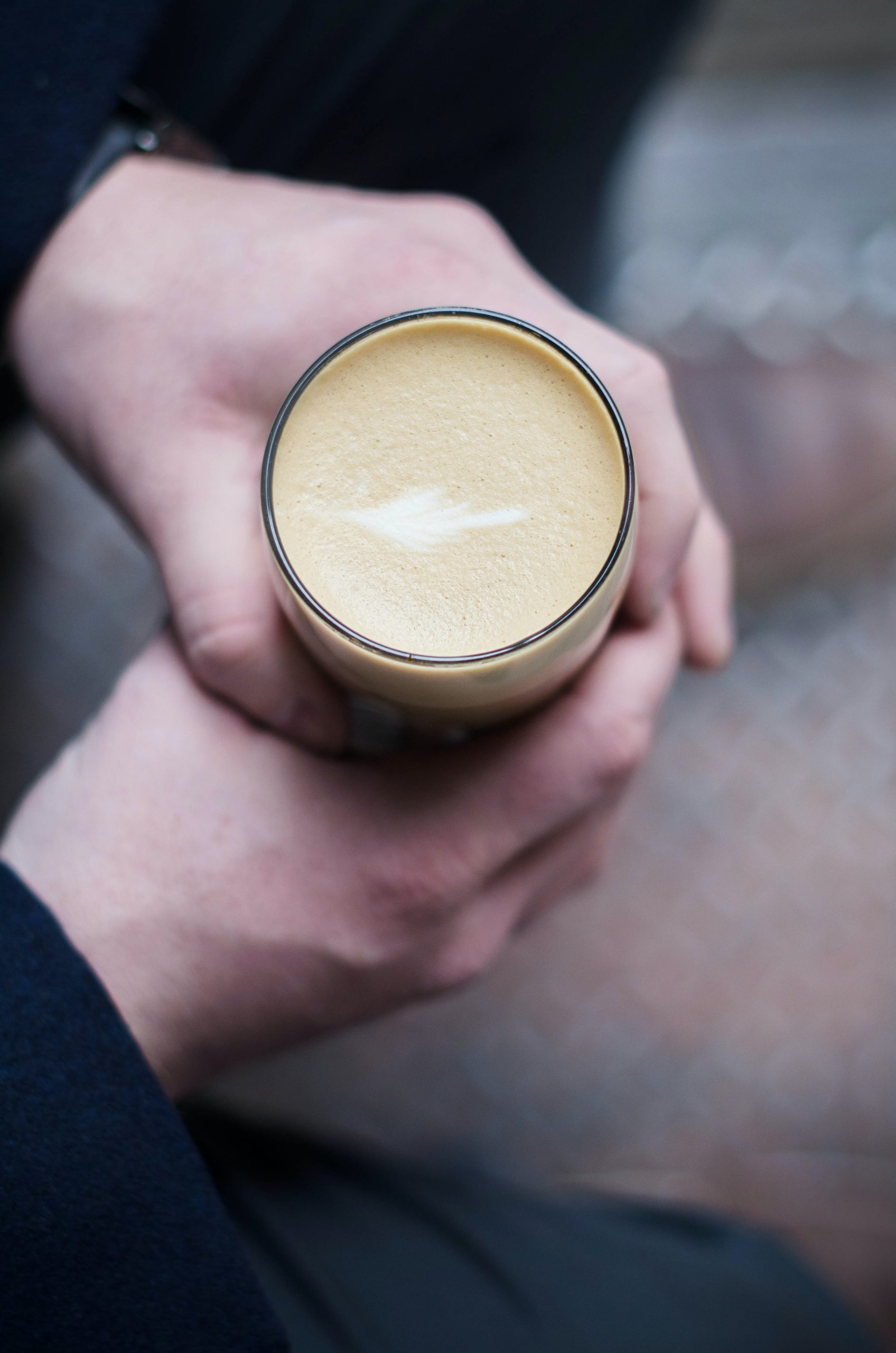 a cup of flat white