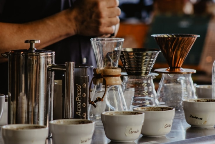 various types of coffee brewing gadgets