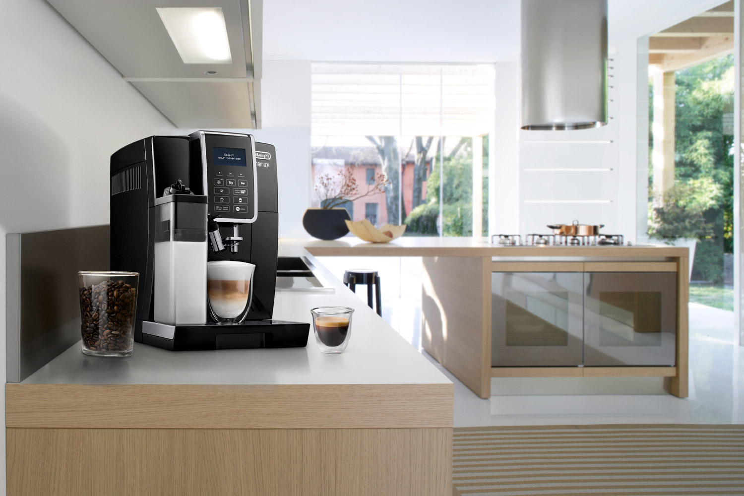 a coffee machine placed on a table