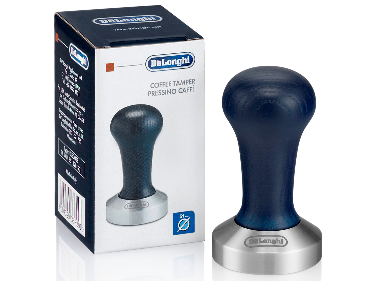 a coffee tamper from De'Longhi