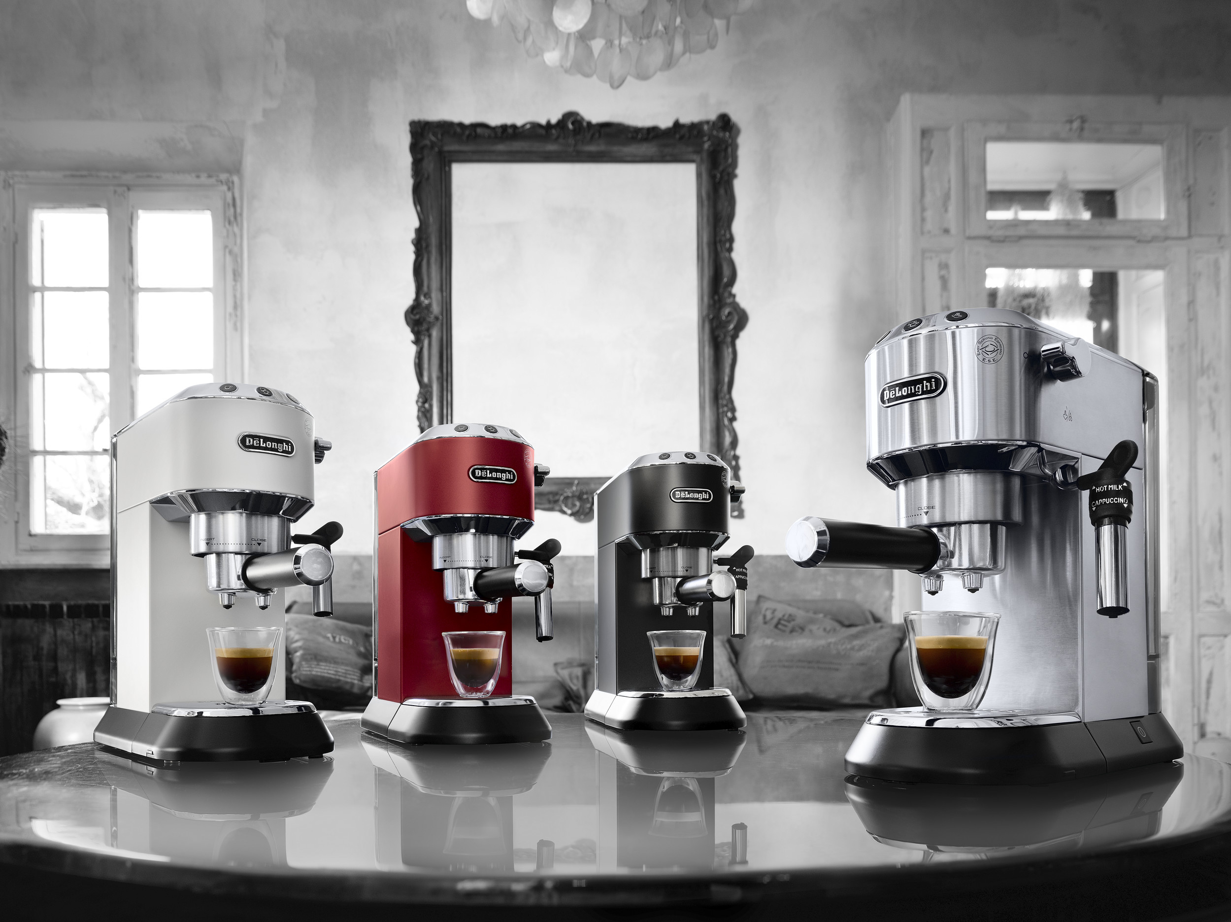 the de'longhi dedica range in various colours