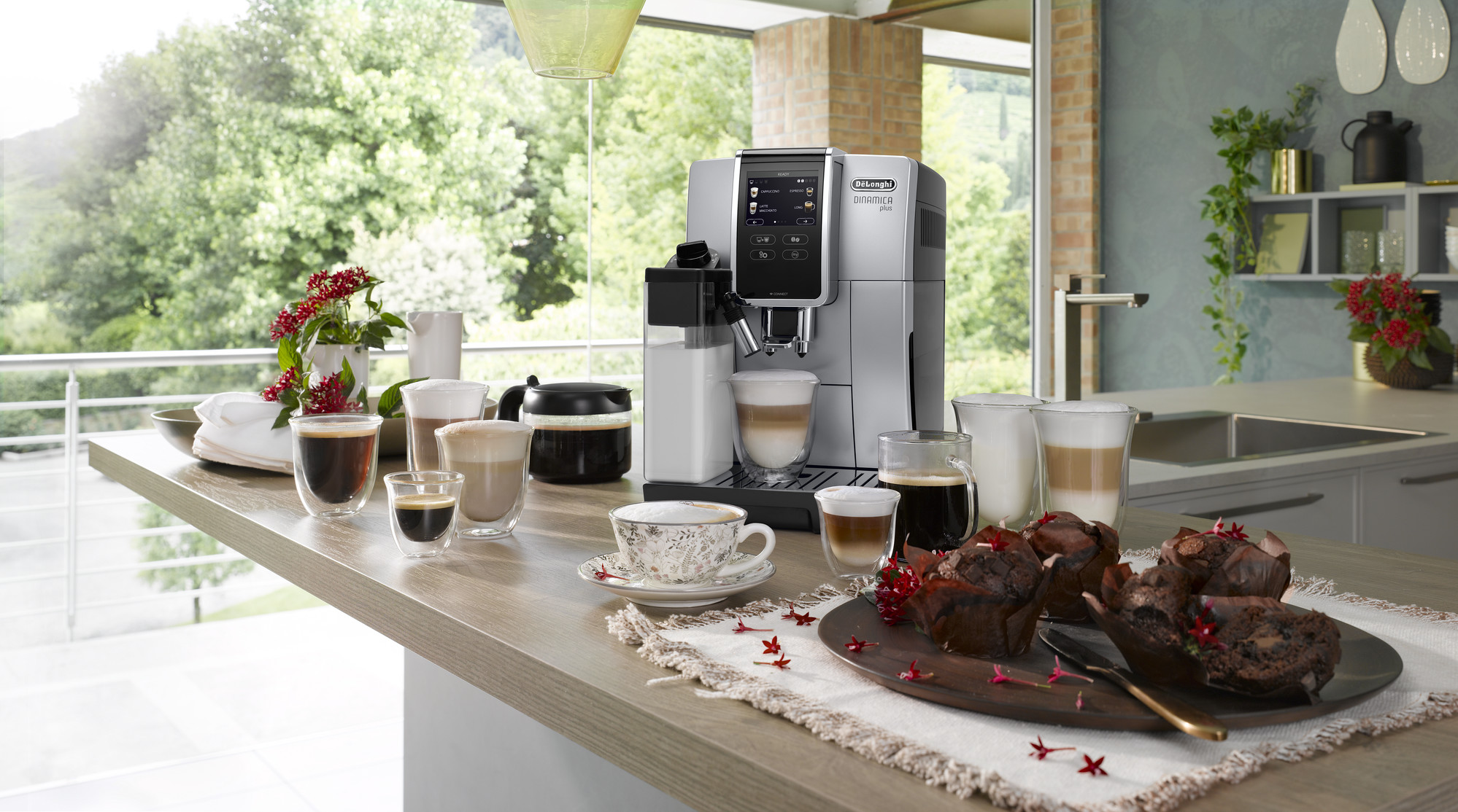 a coffee machine placed on a kitchen table