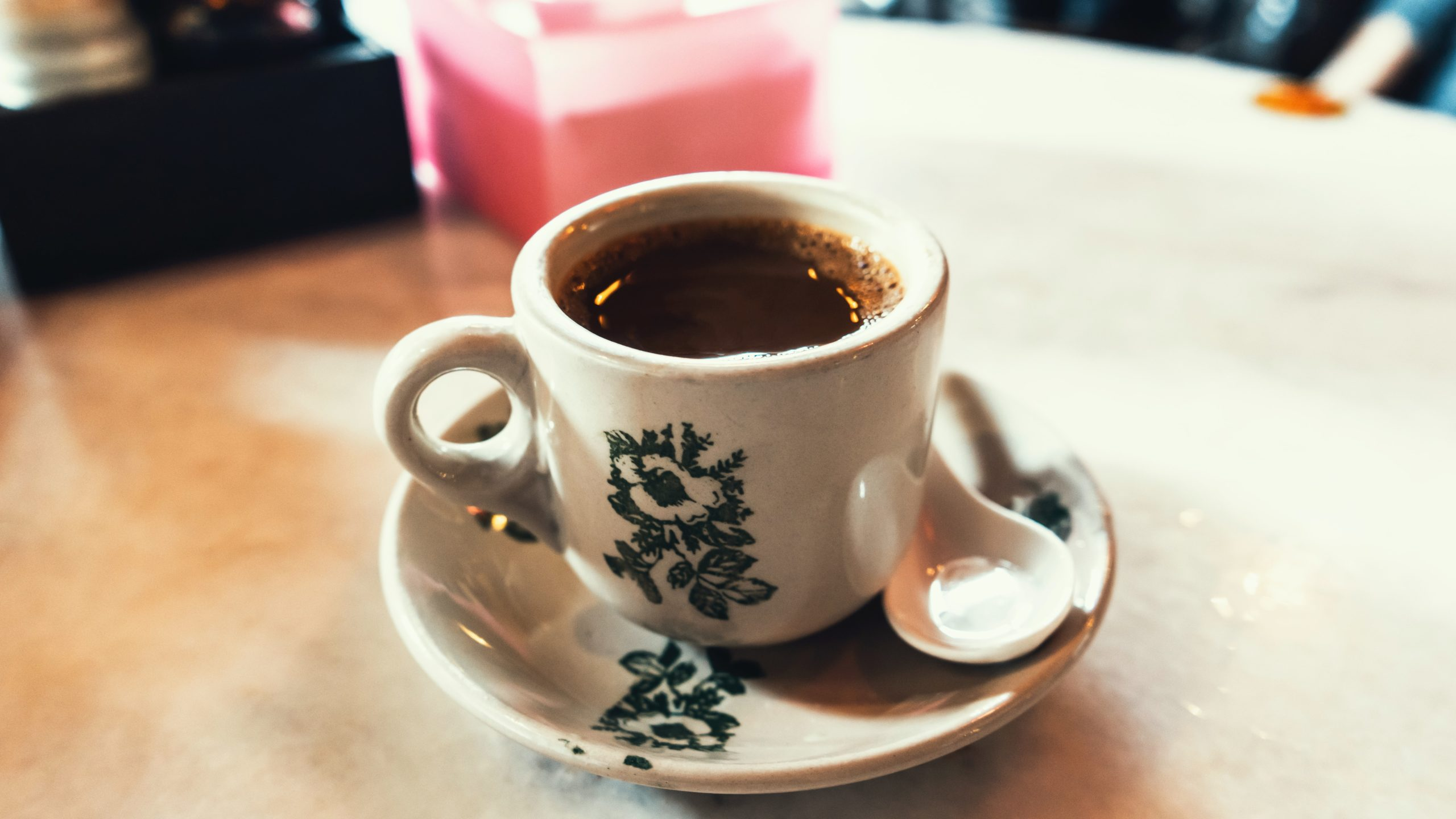 coffee served in a traditional mug