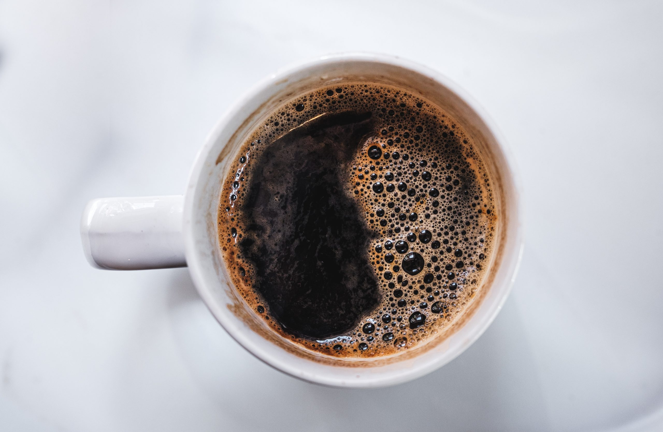 coffee in a white cup