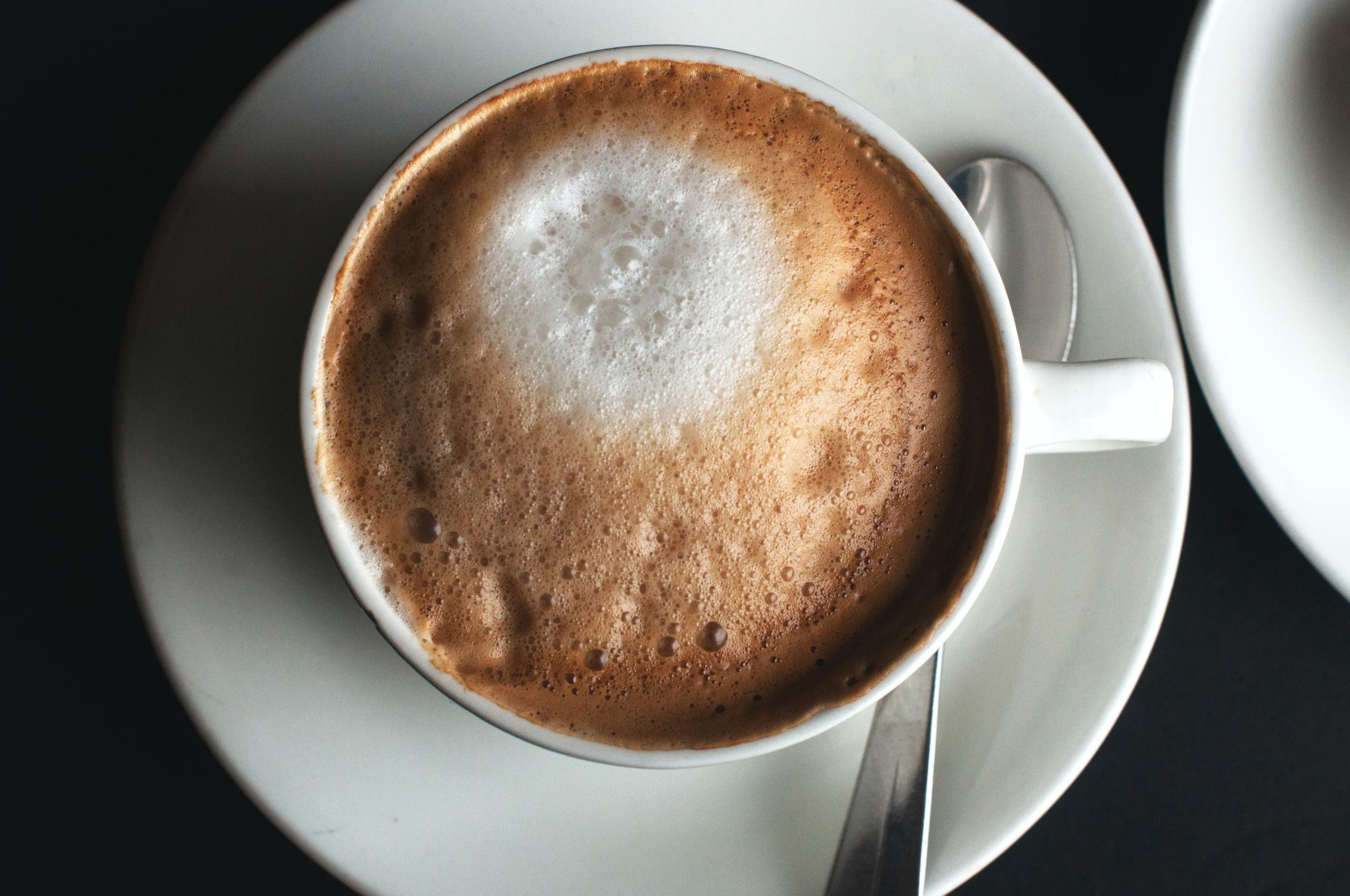 a frothy cappucino