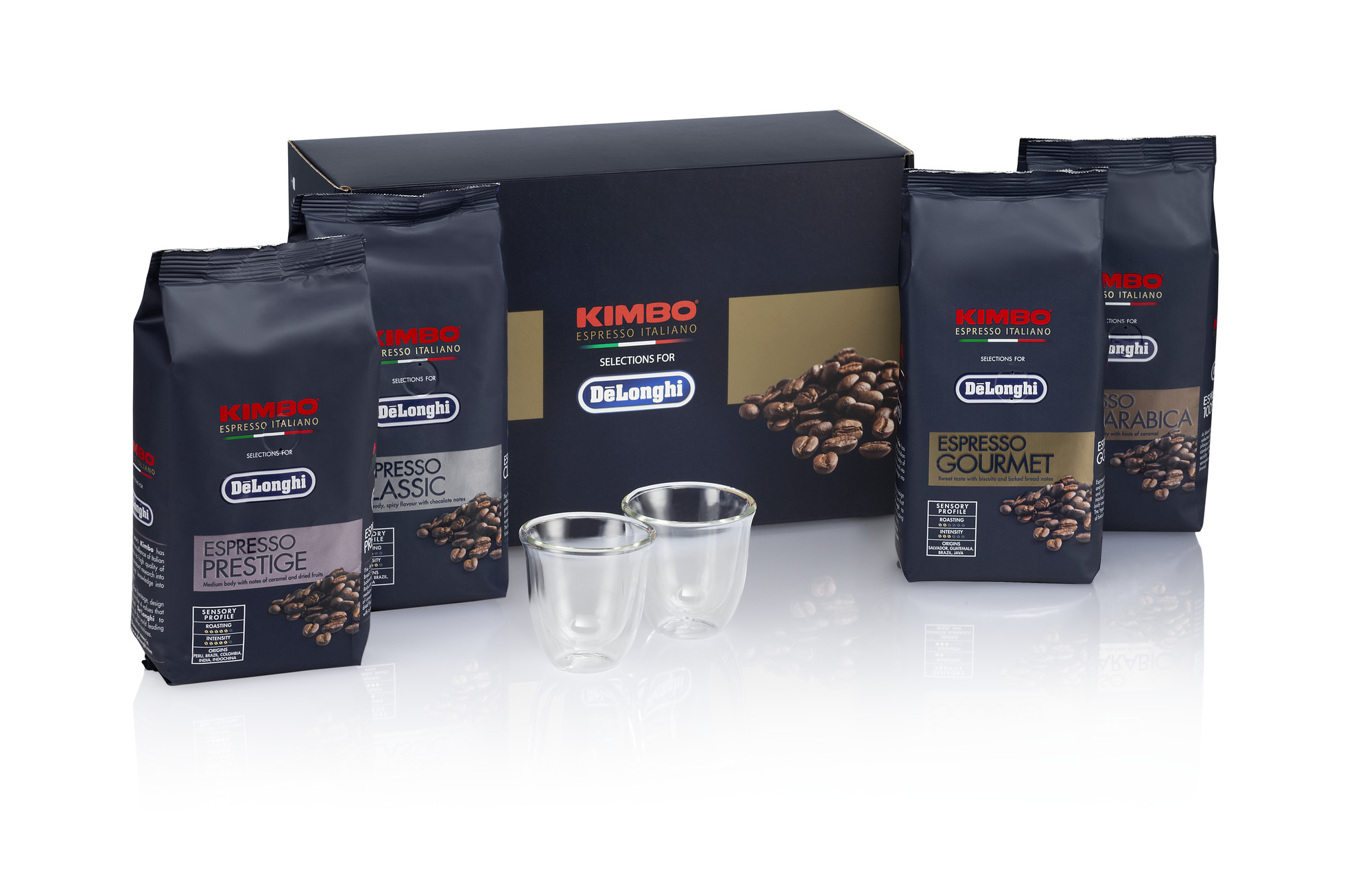 various types of coffee beans placed together