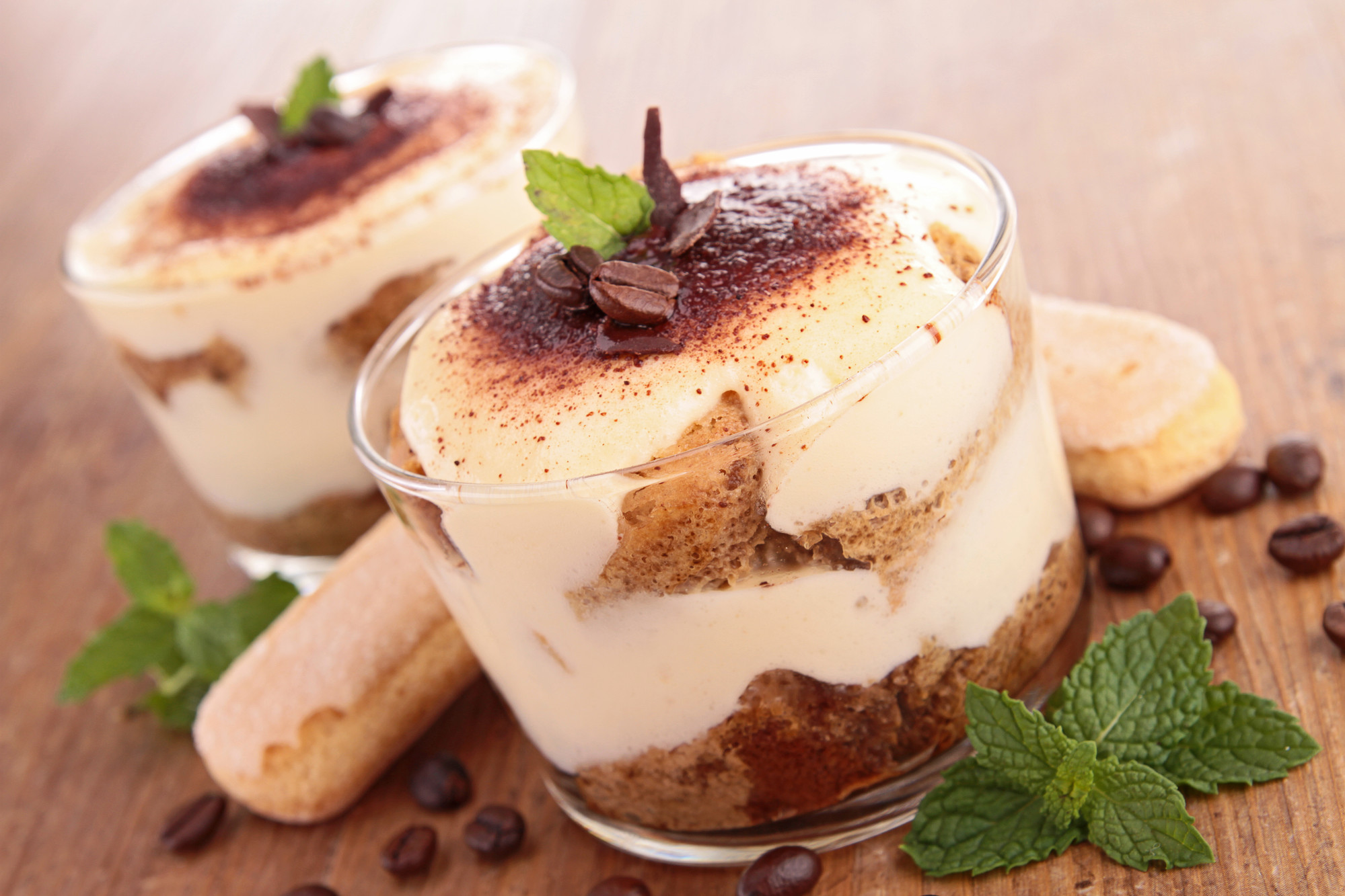two cups of tiramisu