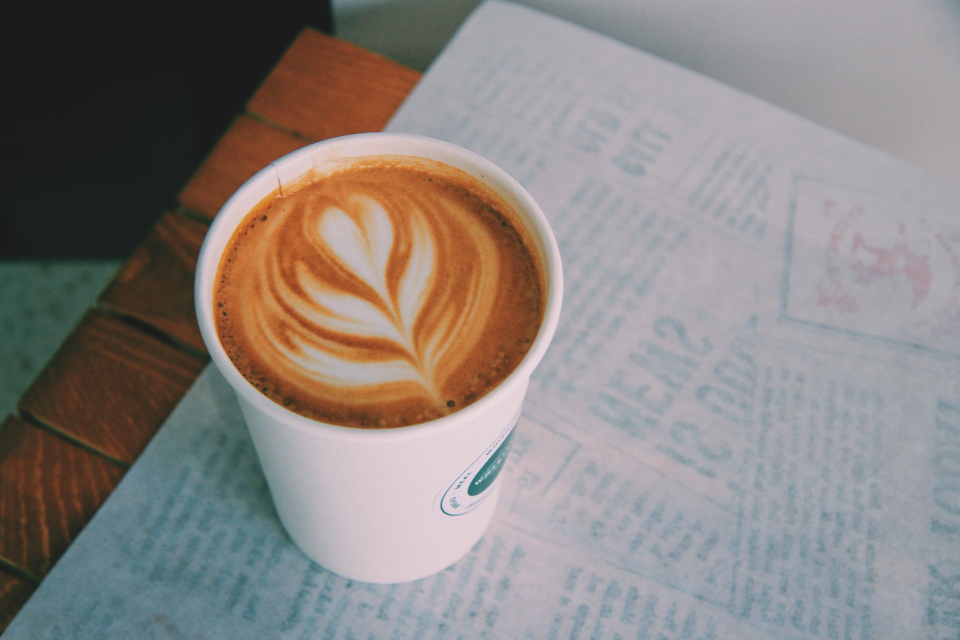 a cup of latte