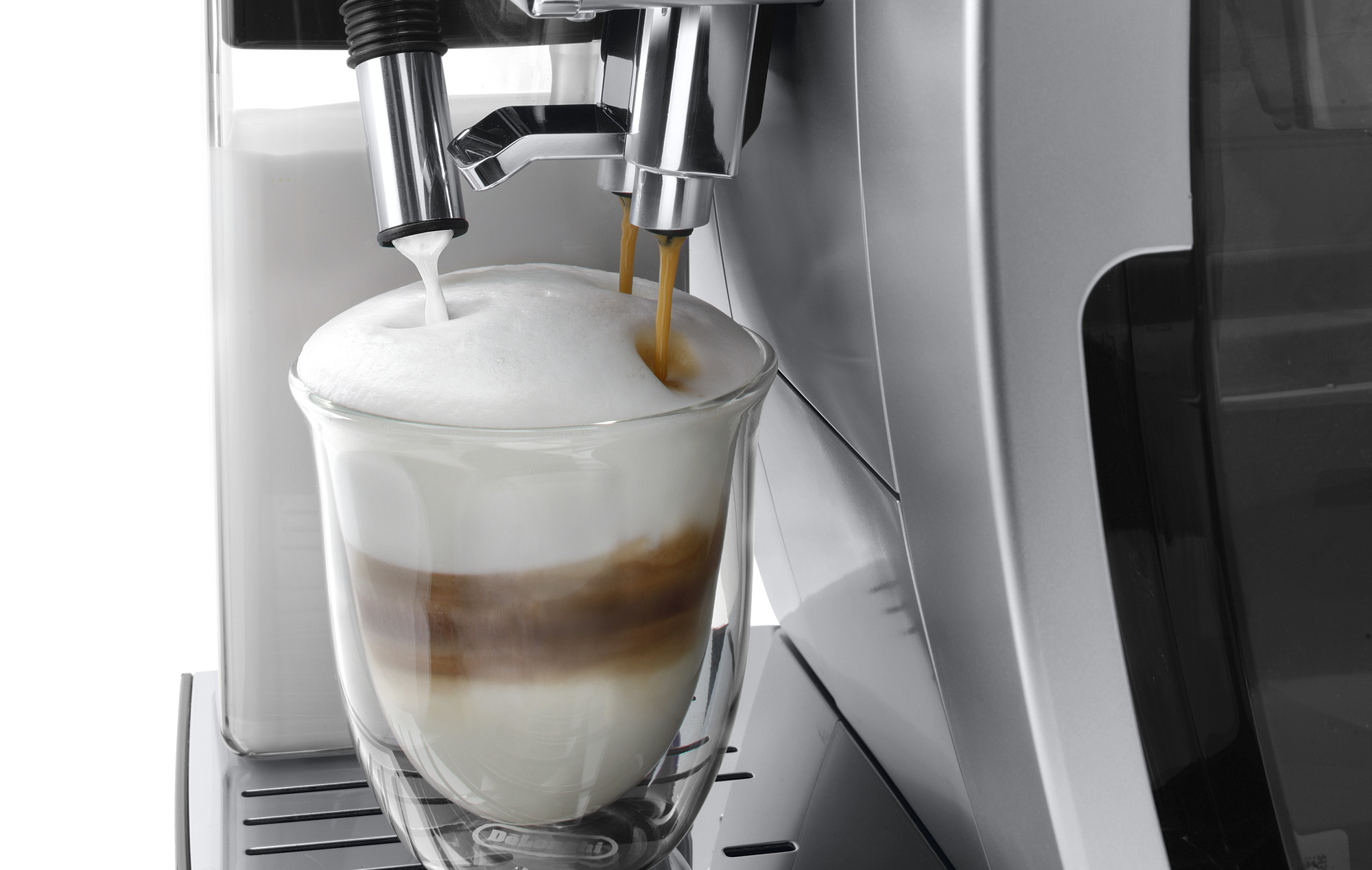 coffee being extracted from a coffee machine
