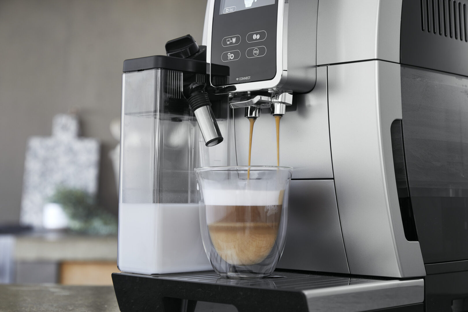 a cup of coffee made from an espresso machine
